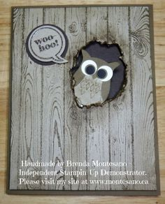 Stampin Up Hardwood stamp and owl
