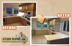 ReSpray your existing kitchen for a fraction of the replacement cost with Kitchen Respray.