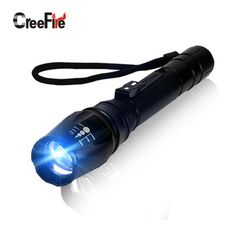 H092 Ultra Bright 5000LM Tactical Flashlight Zoom LED Flashlight Torch 5 Mode Zoomable Penlight
