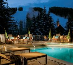 Take a dip here after a day on the slopes. The Osprey, Beaver Creek, CO.