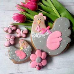 Iced Cookies, Easter Cookies, Sugar Cookies Recipe, Fun Cookies, How To Make Cookies, Cupcake Cookies, Christmas Cookies, Cupcakes, Torta Baby Shower