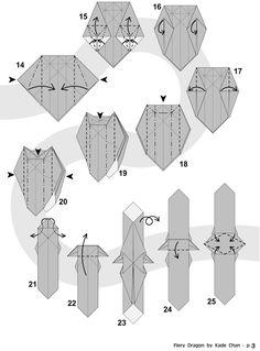 Trendy origami paso a paso shuriken Ideas Origami Instructions Dragon, Easy Origami Dragon, Origami Lion, Origami Turtle, Origami And Kirigami, Origami Rose, Origami Animals, Origami Tutorial, Origami Paper