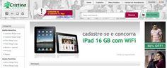 Cristina Malhas lança loja virtual e sorteia iPad