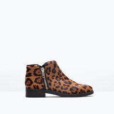 78cdfe9e4 Imagem 1 de BOTIM PELE ESTAMPADO da Zara Nova Coleção, Sapatilhas,  Estampas, Sapatos