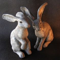 "Jonni Good ""paper mache clay"" sculptures - definitely trying her recipie"