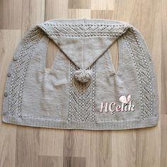 Ein weiteres schönes Modell 👏😍 Very Succes Crochetbabyblanket - Diy Crafts - Q . Diy Crafts Knitting, Knitting For Kids, Baby Knitting Patterns, Knitting Stitches, Baby Cardigan, Baby Pullover, Crochet Backpack, Toddler Sweater, Crochet For Beginners