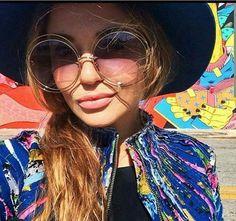 Carlin Oversized Big XXL Round ROXANNE Women Sunglasses Double Wire Coachella #FashionDeals #Round