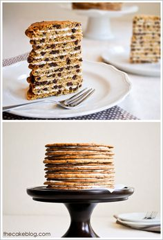 Chocolate Chip Cookie Cake  |  TheCakeBlog.com