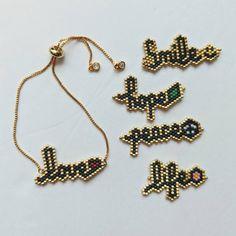 Bead Embroidery Jewelry, Beaded Jewelry Patterns, Bracelet Patterns, Beading Patterns, Color Patterns, Mosaic Patterns, Knitting Patterns, Seed Bead Jewelry, Bead Jewellery
