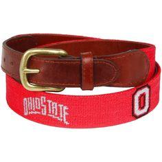 Ohio State Buckeyes Needlepoint Belt - Scarlet - $131.99
