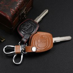 2017 High quality leather 2 button remote control key set for Suzuki sx4 swift liana large vitara key cover, car styling