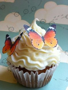 Beautiful Monarch Butterflies, completely edible(: