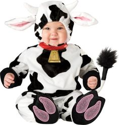 Lil Characters Unisex-baby Infant Mini Moo Costume Lil Characters. $26.68. 100% polyester. Machine Wash. Lined zippered jumpsuit with snap leg closures for easy diaper change. Slip-on booties with skid resistant bottoms (booties for indoor use only), character hood with snap/velcro closure.