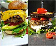 βετζετέριαν μπέργκερ και μπέργκερ νηστίσιμο Hamburger, Vegetarian, Beef, Ethnic Recipes, Food, Vegetarian Cooking, Meat, Eten, Hamburgers