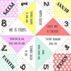 Easter Cootie Catcher Printable With Folding Instructions