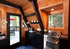 Micro-Size Kitchen - House Tour: 1969 California A-Frame Updated for Today - Bob Vila
