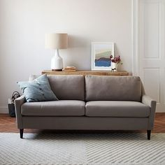 Everett Sofa, Heathered Tweed, Cement At West Elm - Couches - Sectionals - Living Room Furniture West Elm Sofa, Contemporary Sofa, Sofa, Furniture, Love Seat, Home Furniture, Living Room Sectional, Living Room Furniture, Upholstered Sofa