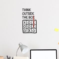 Adesivo de Parede Think Outside The Box