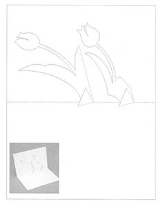 Киригами: схемы объемных открыток