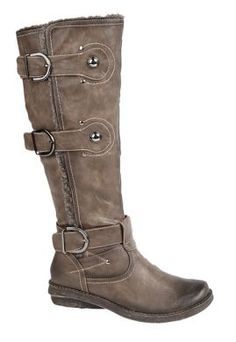 Vegetarian Shoes - Womens Vegetarian Shoes - Boots - Fashion - Buckle Strap High Leg Brown Boot - Alternative Stores