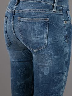 Current/Elliott Illustrated Jean at Farfetch.com... I can't decide if these are a LOVE or HATE.