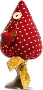 Amore Pincushion in Red