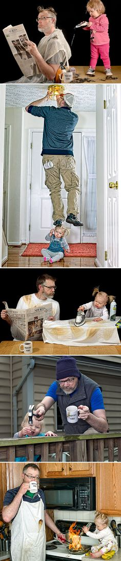 """""""World's Best Father"""" - Dave Engledow on Fotoblur (Don't try this at home.)"""