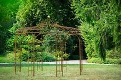 Stabiler Gartenpavillon Rost Metall Ø 250cm Pavillon Eisen Rankpavillon | eBay