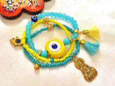 SALE AMULET BRACELET Evil Eye Bracelet Middle Eastern by Nezihe1