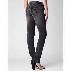 0401dcaf8 True Religion Julie Big T Skinny Charcoal Jeans Cute