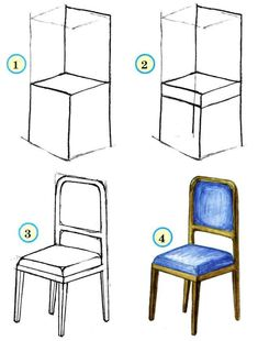 Drawing classes and lessons for kids draw our house sofa bed table and armchair how to draw painting and drawing for kids luntiks children s arts and crafts activities drawing and poems the best of chair design top 10 chair styles Drawing Furniture, Chair Drawing, Furniture Logo, Furniture Projects, Furniture Plans, Kids Furniture, Furniture Design, Outdoor Furniture, Perspective Drawing Lessons
