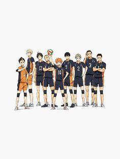 """""""Haikyuu - Hinata / Tsukishima / Nishinoya"""" Sticker by Haikyuu Nishinoya, Haikyuu Funny, Haikyuu Fanart, Haikyuu Anime, Kuroo, Anime Naruto, Anime Guys, Manga Anime, Haikyuu Wallpaper"""
