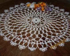 Shuttle Tatting Pattern Doily by Frywolaga