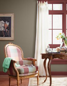 Unexpected Ways to Add Color to Your Room: Color your window sash bars.