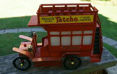 Vintage Tin Double Decker Bus Lamp by TheDecoHotel on Etsy