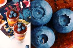 The Global Girl Raw Recipes: Blueberry & Persimmon Parfait. 100% pure fruit goodness. Totally raw, vegan, fat-free and sugar-free.