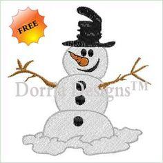Freebie snowman embroidery design 357