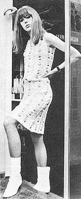 1960s Mod Girl  This is Jenny Boyd sister of Pattie. Thanks Grace!