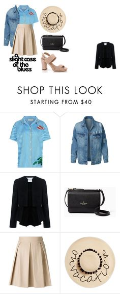 """Летний лук"" by netapples on Polyvore featuring мода, Mira Mikati, LE3NO, 10 Crosby Derek Lam, Kate Spade, Boutique Moschino, August Hat и Lady Godiva"