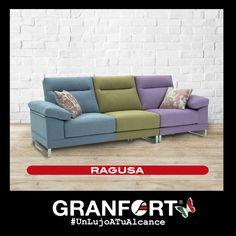 ¡¡¡ Llena tu salón de color y alegría !!! Nunca ha sido tan fácil con los nuevos Sofás de Autor Granfort #Moderno #Divertido #salón #Deco