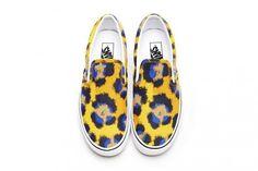 ce899189590 Kenzo x Vans Authentic   Slip-On Spring 2013. Vansスリッポンヒョウ柄 ...