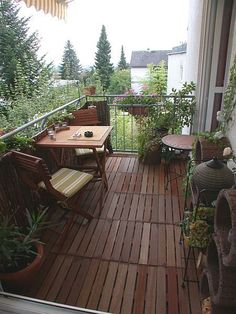 Balcony...cozy & inviting