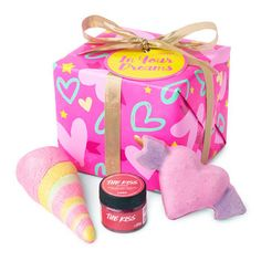 In Your Dreams Gift: Make your bathing dreams a reality with three of our exclusive Valentine's Day goodies.