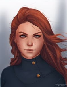 This is Shallan Davar from The Way of Kings by Brandon Sanderson, or at least how I imagine her to be.