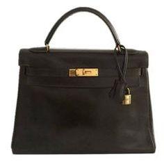 Hermès Kelly Brown Box Leather Bag 32cm 2a5b81c5bb90e