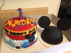 Mickey Mouse Club House 1st Birthday Cake
