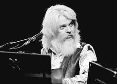 Leon Russell, somewhere around Austin, with Willie Nelson, 1970s.
