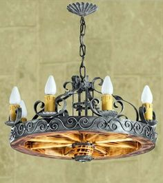 Lamparas y candiles de hierro forjado b squeda de google - Lamparas estilo colonial ...