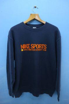 7b002fe889c Vintage Nike Sports Big Logo Sport Sweatshirt Pull Over Crewneck Street  Wear Size 3XL