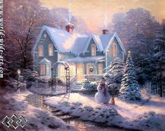 Blessings of Christmas - Thomas Kinkade - World-Wide-Art.com
